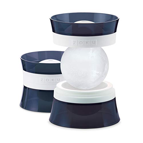 Zoku Silicone Ice Sphere Molds, Set of 2 Stackable Ice Ball Molds,...