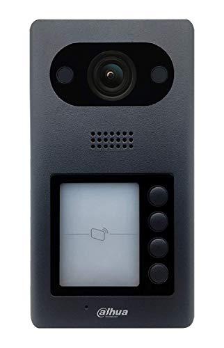 Dahua - Videoportero IP PoE Dahua Cámara 2 MP, 4 botones y lector RFID - VTO3211D-P4