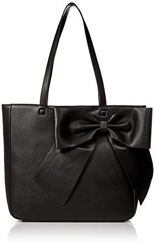 Karl Lagerfeld Paris Damen CANELLE FARA PU BOW TOTE Tragetasche, schwarz, Einheitsgröße