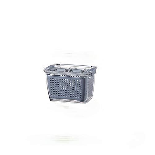 Tenbroman Caja de Almacenamiento de plástico de Cocina Caja de conservación Fresca Refrigerador Ahorro de Productos Frescos Contenedores de Almacenamiento de Frutas Vegetales para refrigerador (S)