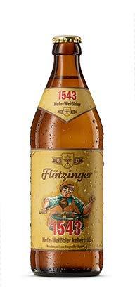 Flötzinger 1543 Hefe-Weißbier kellertrüb 12 Flaschen x0,5l