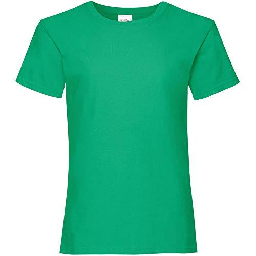 Fruit of the Loom Camiseta, Niñas, Verde césped, 14-15 años