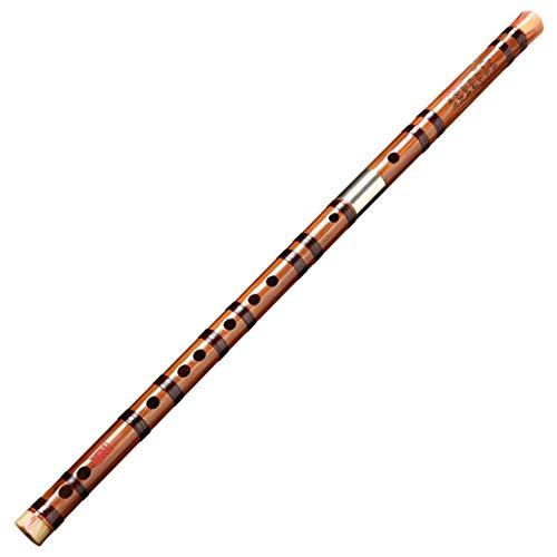 LYQZ Portátil Flauta, Flauta de bambú Amargo Flauta de Instrumento Profesional Principiante Antiguo Chino Musical Dizi Clarinete (Color : D)