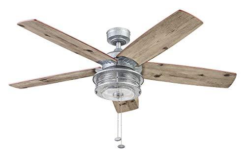 Honeywell Ceiling Fans 51632-01 Foxhaven Ceiling Fan, 52, Galvanized