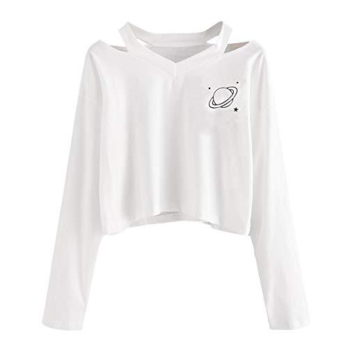 FRAUIT Mooie losse dames sweatshirts bloemen kort warm zacht herfst lange mouwen zomer strand T-shirt sport meisjes blouse mode tops bedrukte lange mouwen bovendeel blouse