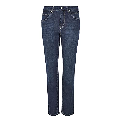 MAC Jeans Damen Melanie Straight Jeans, Blau (Dark...
