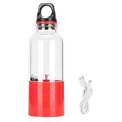 Ymiko Electric Juicer Cup Portable Juice Smoothie Blender met USB Oplaadbare 500ML Automatische Gereedschap Fruitmixer Fles voor Groenten, Fruit, Milkshake, Jam(500ML-Rood)