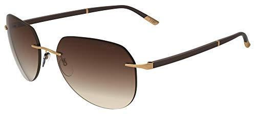 Gafas de Sol Silhouette SUN C-2 8709 Gold/Brown Shaded talla única unisex