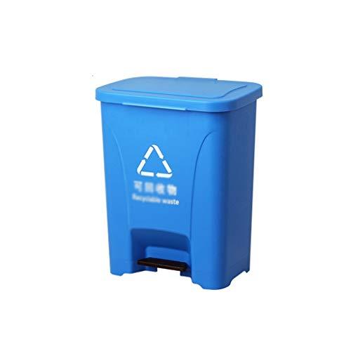AOYANQI-Cubos de basura Lugar Público Cubos de basura y la estación de metro de fábrica Jardín contenedores de reciclaje grande engrosamiento pedal de clasificación caja de basura Bajo techo, en exter