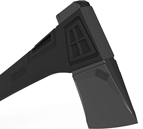 LEXIVON V18s Splitting Axe, 18-Inch Lightweight Fiber-glass Composite Handle & Ergonomic TPR Grip | Protective Carrying… 5 INNOVATIVE DESIGN - Fully encased over-molded blade. Hi-Tech fiberglass composite injected handle, featuring reinforced back spine & non-slip TPR grip. DURABLE - Drop-forged & heat-treated Grade A High-Carbon steel, meticulously hardened cutting edges provides a deeper and cleaner contact. SPLITTING - Wedge-shaped blade profile gives efficient one-strike splits. Perfect for splitting small to medium-sized fireplace logs & kindling.