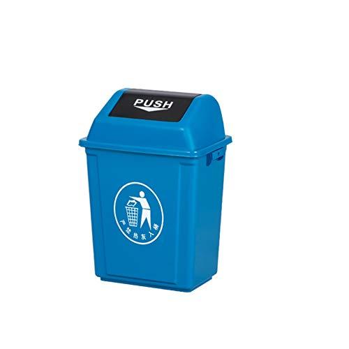 AOYANQI-Poubelles Trash Bins, Plastique en Plein air Rectangle Poubelle école Usine Salle de Bains Hôtel Poubelle Grande capacité 40L intérieure/extérieur (Color : D, Size : 40L)