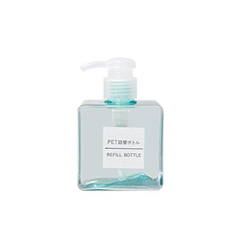 OUNONA 250 ml Shampoo Lotion Dispenser Seifenspender Leere Kunststoff Pumpflasche FL¨¹ssige Container (Transparent Blau)