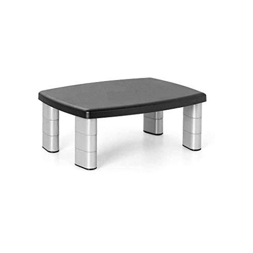 QIAO0142 Robuuste duurzame in hoogte verstelbare voeten, ergonomische monitorstandaard, instelbare lengte voor laptop, pc, tv, printer Een