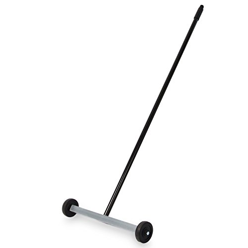 """Master Magnetics - Magnetic Sweeper with Wheels, 14.5"""" - Pick up Nails, Needles, Screws and More 07263"""