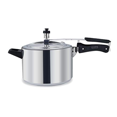 Rico Heavy Aluminium Inner lid Pressure Cooker 2 litres | with Fuel Saving Base - requires lesser Gas than other cookers| with extra Free Extra Gasket & Safety Valve inside the box| 5 Year Free Replacement Warranty l Made In India