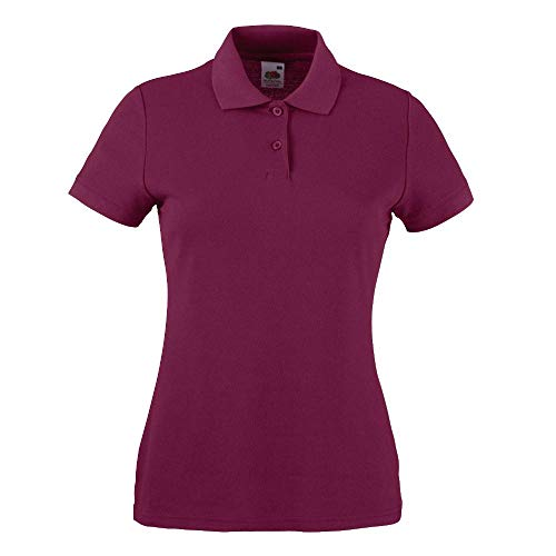 Fruit of the Loom - Lady-Fit Poloshirt Mischgewebe \'65/35 Polo\' Large,Burgundy