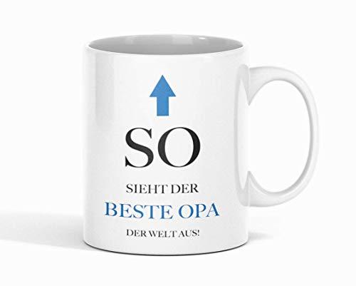 Shirtinator Geschenk-Tasse mit Spruch für Opa I So Sieht Der Beste Opa Der Welt Aus I Geburtstag Vatertag Geschenkidee-n Vatertagsgeschenk