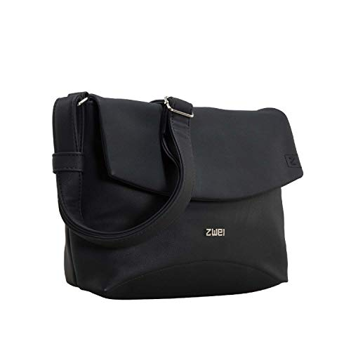 Zwei Handtasche Umhängetasche ELLI EL6-z Kunstleder, Farben Taschen:Black