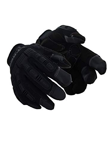 Magid Glove & Safety PGP49TL Magid T-REX Impact Ultra Gloves, Large, 9/L, Black