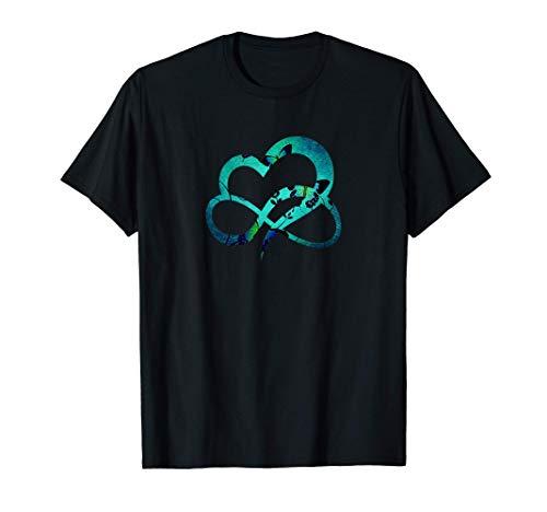 Corazón Infinito Signo Mariposa - Infinity Heart Camiseta
