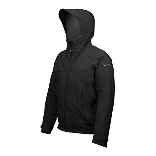 Zenph softshell jacks, fleecejack camouflage hoodie outdoor wandelen kamperen warm binnenvoering winddicht waterdicht mantel jassen ski-jack, zwart (XXL, XL)