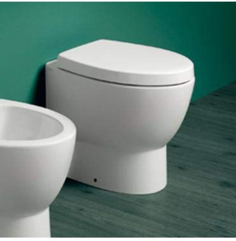Simas - Floor Standing Toilet Back to Wall, Simas LFT Spazio Base - White, Without Toilet seat, in Stock
