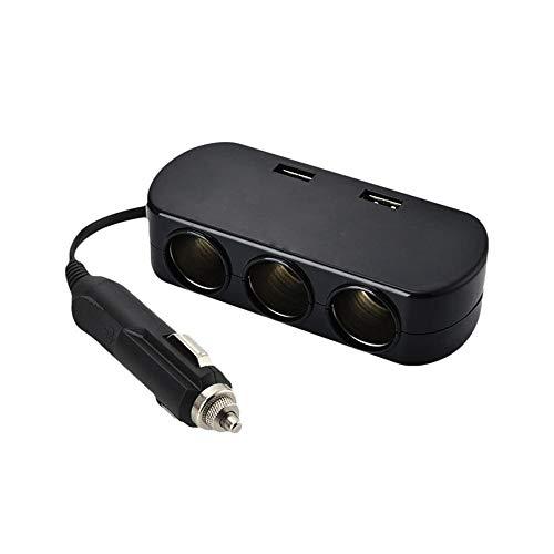 ZXXFR 3 Socket De Mechero De Coche Cargador Adaptador Divisor De Potencia 12V-24V Accesorios Electrónicos De Coche Cargador De Coche, Negro