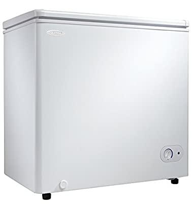 Danby DCF055A2WDB-3 5.5 cu. ft. Chest, Garage Ready White Deep Freezer with Basket, Perfect for Dorm, Mud Room, Basement, Kitchen, Cu.Ft