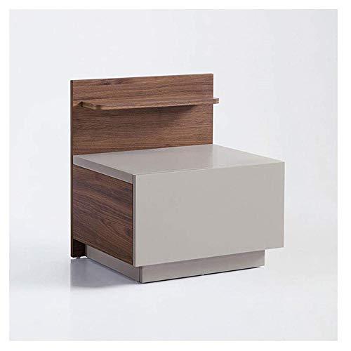 Nachtkastje industrieel nachtkastje met opberglade slaapkamer-bijzettafel nachtkastje eenvoudig te monteren slaapkamer-bijzettafels bijzettafels grijs