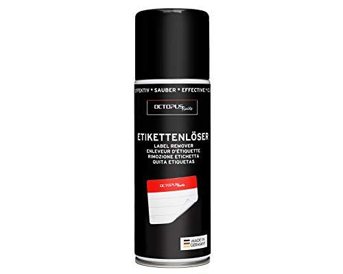 OCTOPUS Etikettenentferner und Kleberlöser Spray, Klebstoff-Entferner zum Lösen hartnäckiger Rückstände, mit Orangenöl - 200 ml