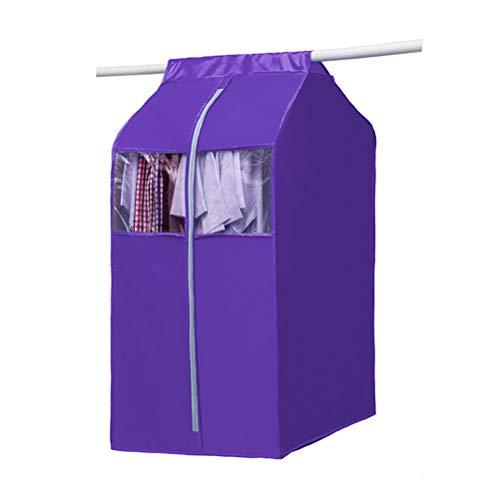 Yardwe Funda para Ropa Nylon Oxford Tela Bolsa de Almacenamiento Organizador de Ropa en el Armario - Tamaño Medio (púrpura)