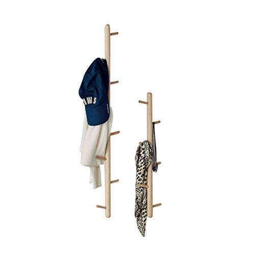 YLCJ Coat rack Wandgemonteerde kapstok in Scandinavisch massief hout Coat rack Wandgemonteerde kapstok Wandkaprek Achter de deur Afwerkingsplank 2 stuks