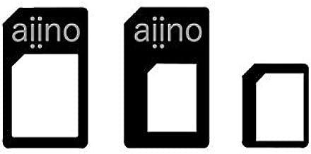 Aiino AISADPT Nano And Micro Sim Adapters Kit - White (عبوة من 1)