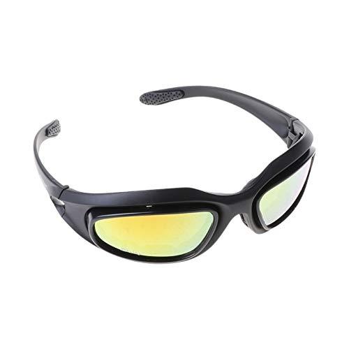 NSGJUYT Montar la Bici de la Motocicleta de la Lente Gafas polarizadas Gafas de Sol Montar la Bici de Deportes