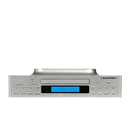Radio de Cocina KRC 40 SV, Radio FM PLL, Bluetooth, Entrada Auxiliar, reproducción de CD, Pantalla LCD retroiluminada, luz LED integrada para iluminar la Superficie de Trabajo, 2 temporizadores