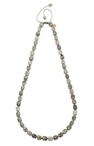 Lola Rose mujer    metal común talla ovalada   Gris cremoso ágata- 66 cm