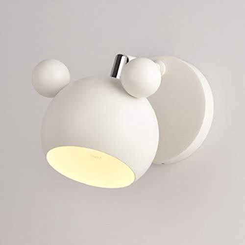 STERB Cartoon Wandleuchte Lampe Nordic Nachttischlampe for Kinderzimmer, Küche, Schlafzimmer in Weiß