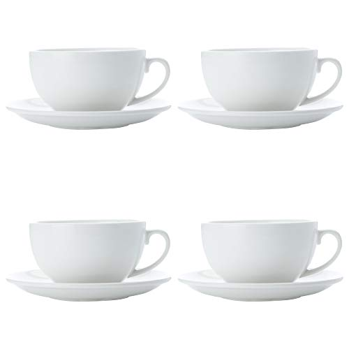 Maxwell Williams 5254523 White Basics Cappuccinotasse und Untertasse, Porzellan