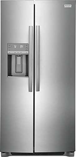 """GRSC2352AF 36"""" Freestanding Counter Depth Side by Side Refrigerator with 22.2 cu. ft. Capacity, 3 Glass Shelves, Ice Maker, Automatic Defrost, in Stainless Steel"""