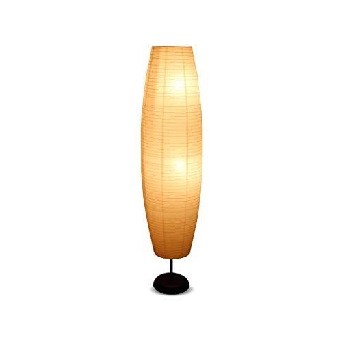ZRABCD Lámpara de pie Led Dormitorio Estudio Sala de estar Lámpara vertical Protección ocular Lámpara de ahorro de energía Lámpara de interruptor de pie de papel