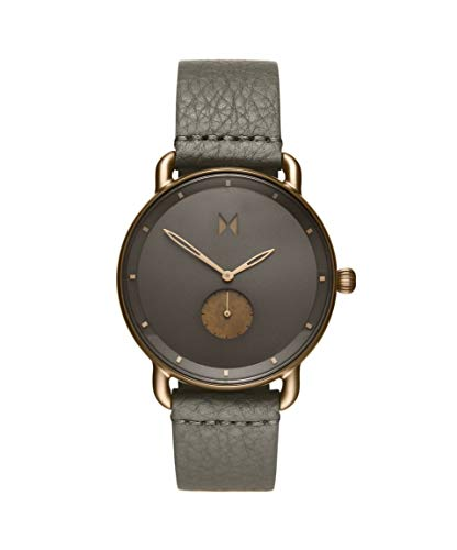 MVMT Herren Analog Quarz Uhr mit Leder Armband D-MR01-BROGR