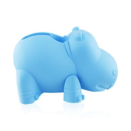 Bath Tub Faucet Protection Spout Cover for Baby Safety, Hippo - Blue