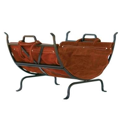 Amazing Deal UniFlame Decorative Firewood Rack with Removable Leather Log Carrier
