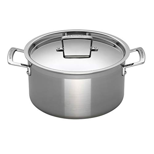 Le Creuset Tri-Ply Stainless Steel 6-1/4-Quart Covered Casserole/Stockpot