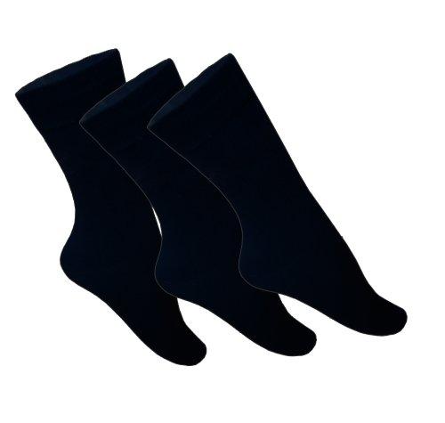Pesail 9 Paar schwarze Socken für Herren mit hohem Baumwollanteil (39-42)