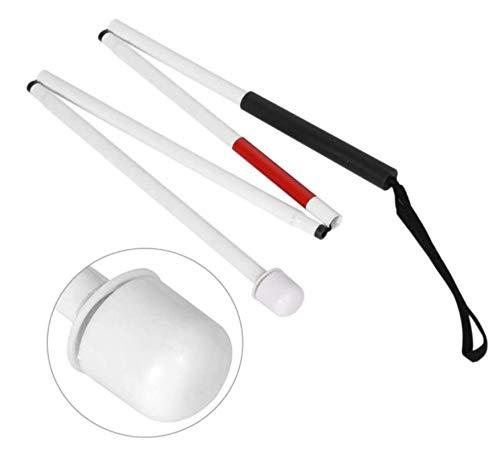 HJQL Bastón, Plegable Y De Aleación De Aluminio De 4 Secciones, Bastón para Invidentes Y Ciegos, Ligero Y Flexible De Usar (127 Cm)