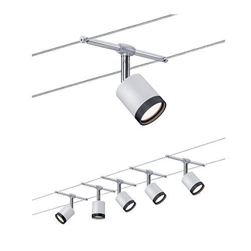 3981 Wire System TubeLED 5x4W Weiß/Chrom matt 230/12V Seilleuchte Seillampe Deckenleuchte Deckenbeleuchtung LED