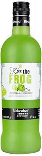 BIRKENHOF Brennerei | Kiss the Frog - Limetten-Gurkenlikör | (1 x 0,7l ) - 18 % vol.