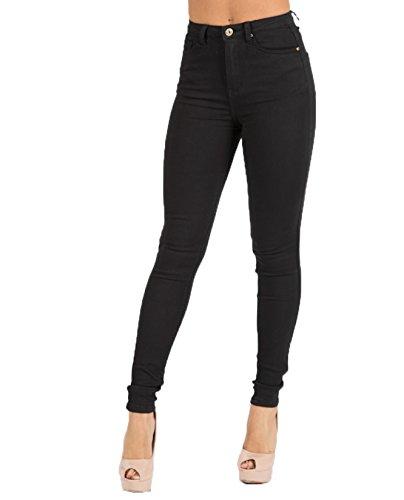 Toxik3 Damen Skinny Jeanshose schwarz schwarz 40 Gr. 32, schwarz