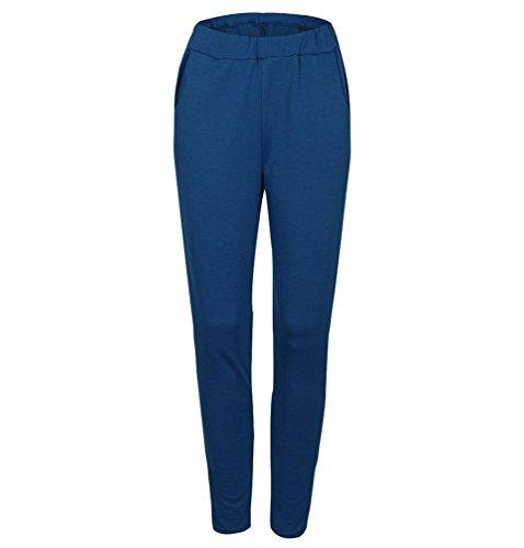 WanYang 1 Piece Mujer Ropa Fitness Sudaderas Pantalon Deporte Chandal Camisetas Pantalones Azules